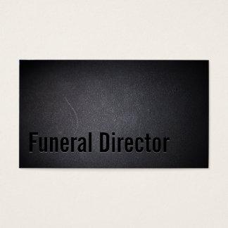 Funeral Director Professional Dark Business Card
