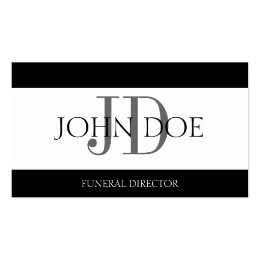 Funeral Director White Banner Business Card Zazzle