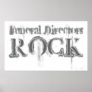 Funeral Directors Rock Poster