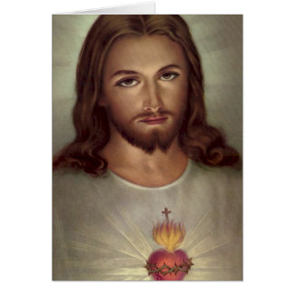 Funeral Holy Card | Devotion Sacred Heart Jesus