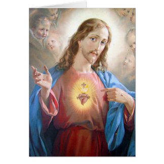 Funeral Holy Card | Jesus Sacred Heart