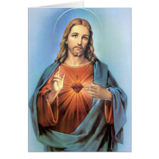 Funeral Holy Card | Sacred Heart Jesus