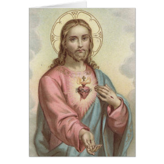 Funeral Holy Card | Sweet Heart of Jesus