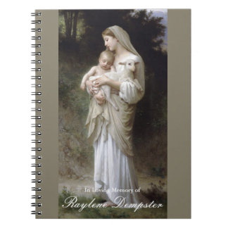 Funeral Memorial Guest Book Mary Innocence