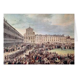Funeral of Ludwig van Beethoven  in Vienna Card