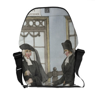 Funeral officials of Amsterdam, illustration from Messenger Bags