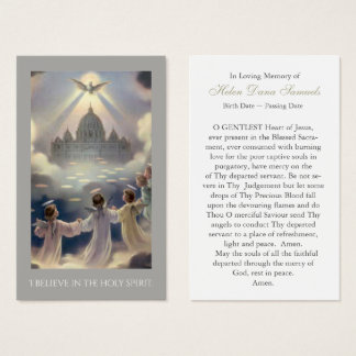 Funeral Prayer Card   I Believe In The Holy Spirit