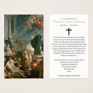 Funeral Prayer Card Miracles of St Francis Xavier