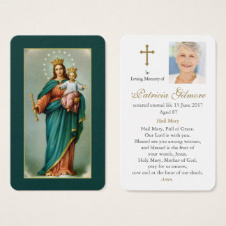 Funeral Prayer Card   Our Lady Help ofChristians 1