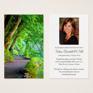 Funeral Prayer Card | Path Through The Forest