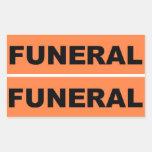 Funeral Rectangular Sticker