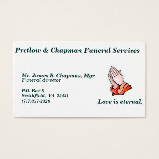 Funeral Services business card - C... - Customized