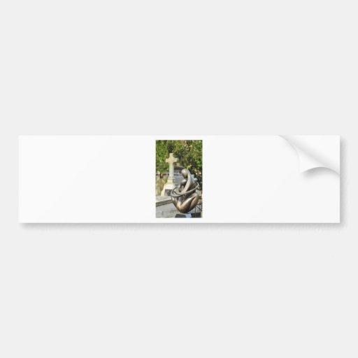 Funeral stone bumper sticker