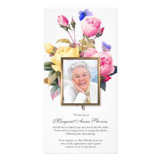 Funeral Thank You Card | Butterflies & Roses