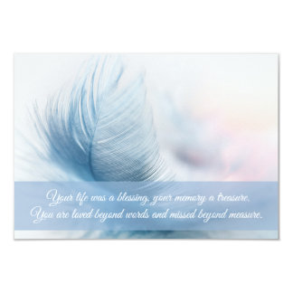 Funeral Thank You card | Feather