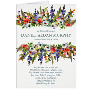 Funeral Thank You Card   Forest Wild Flowers