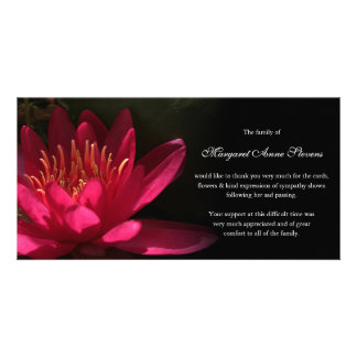 Funeral Thank You Card | Pink Waterlily