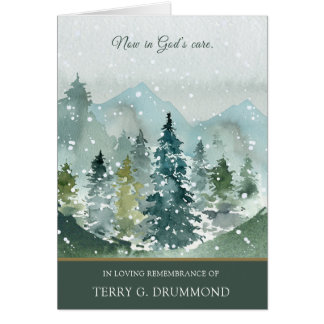 Funeral Thank You Card | Spruce Trees
