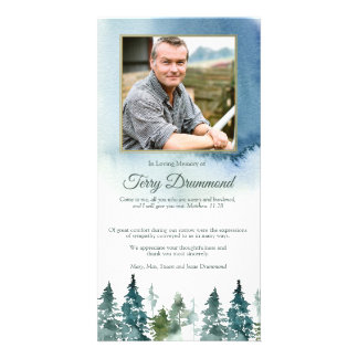 Funeral Thank You Card | Watercolor Spruce