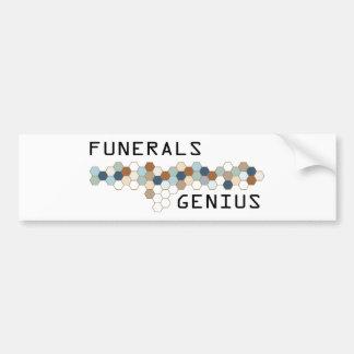 Funerals Genius Bumper Stickers