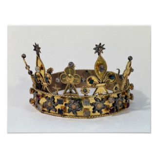 Funerary crown of Philippe of France  1404 Poster