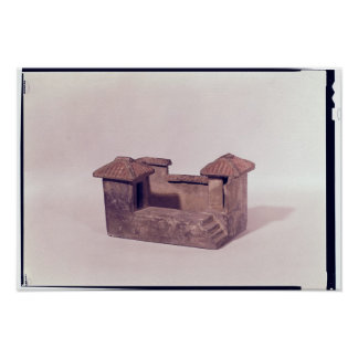 Funerary model of a house, Han dynasty Poster
