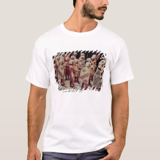 Funerary model of marching armed soldiers T-Shirt