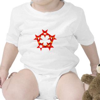 Fünfecke pentagons baby bodysuits