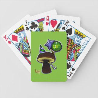 Fungi - Bad Pun Cartoon Bicycle Playing Cards