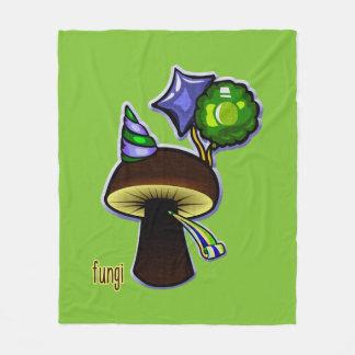 Fungi - Bad Pun Cartoon Fleece Blanket
