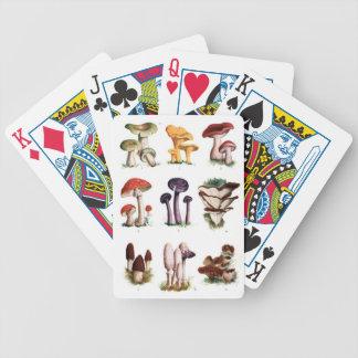 Fungi Bicycle Playing Cards