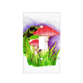 """Fungi Frog"" Light Switch Cover"