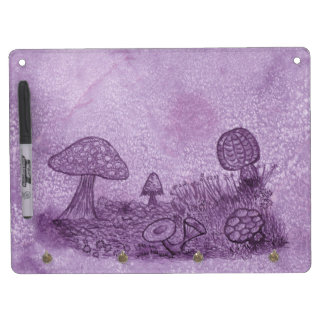 Fungi Meadow Dry Erase Board / Keychain Holder