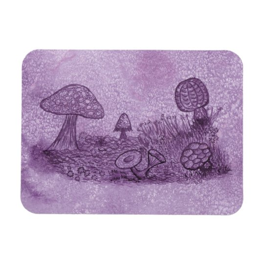Fungi Meadow Rectangle Magnet