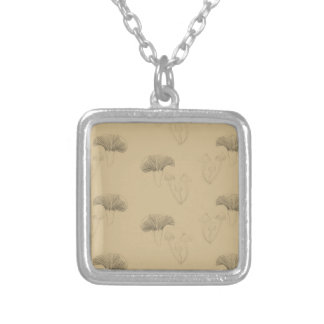 fungi silver plated necklace