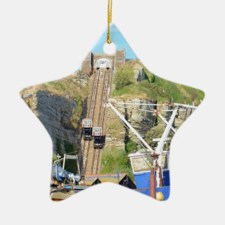 Funicular Railway Hastings Ceramic Ornament