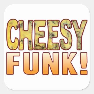 Funk Blue Cheesy Square Sticker