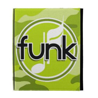 Funk bright green camo camouflage iPad folio covers