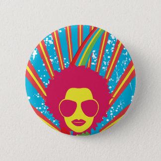 Funk ~ Funky Disco Queen 80s 1980s Retro 2 Inch Round Button