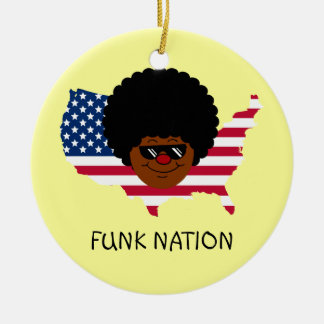Funk Nation: The United States of Funk Ceramic Ornament