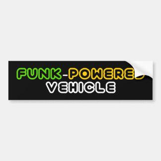 Funk Powered Vehicle Bumper Sticker