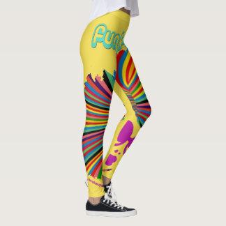 Funkified Sporty Leggings Yellow