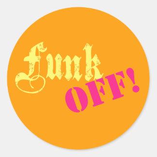 funkoff classic round sticker