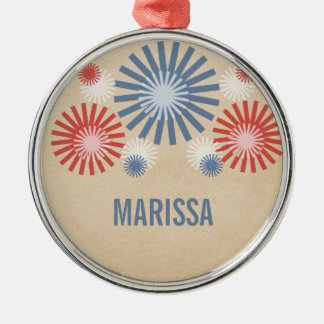 Funky 4th of July Fireworks Ornament