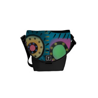 Funky Abstract Art Handbag Courier Bags