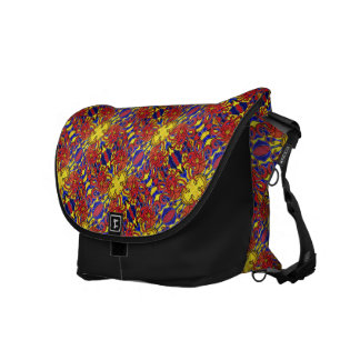 Funky Abstract Blue Orange Yellow Pattern Commuter Bag