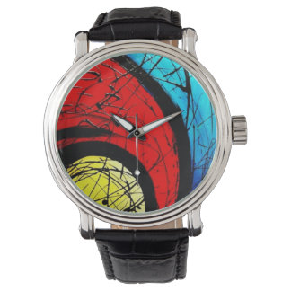 Funky Abstract Circles Art Watch