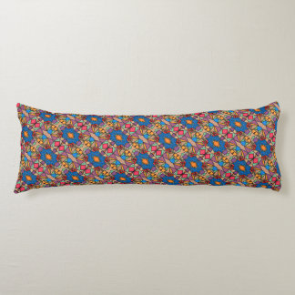 Funky Abstract Flower Pattern Body Pillow