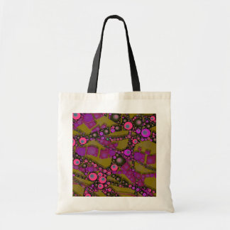 Funky Abstract Pattern Budget Tote Bag
