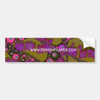 Funky Abstract Pattern Bumper Sticker